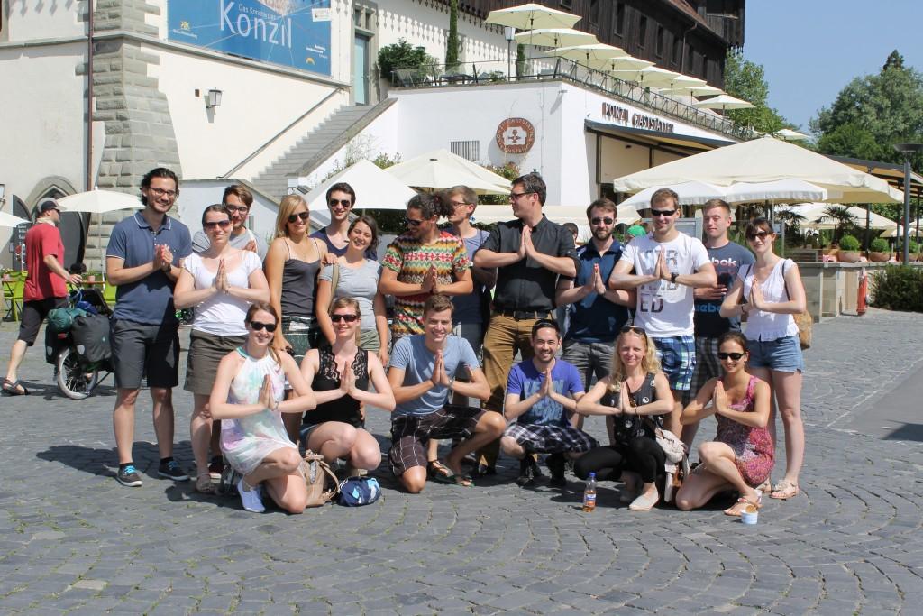 Gruppenfoto Teilnehmer Speeddating Konstanz im Juni 2014