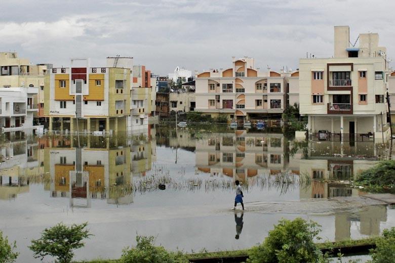 City district under water